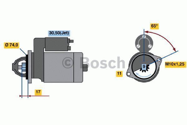Bosch Starter 0 001 107 448