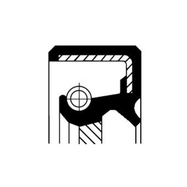 Corteco Differentieel keerring / Schakelstang keerring 19034041B