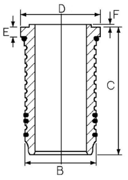 Goetze Engine Cilinderbus/voering 14-676420-00