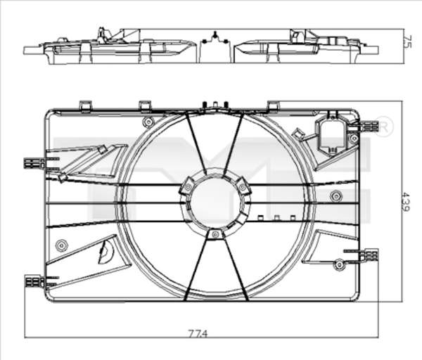 Tyc Ventilatorhouder 825-0018-1