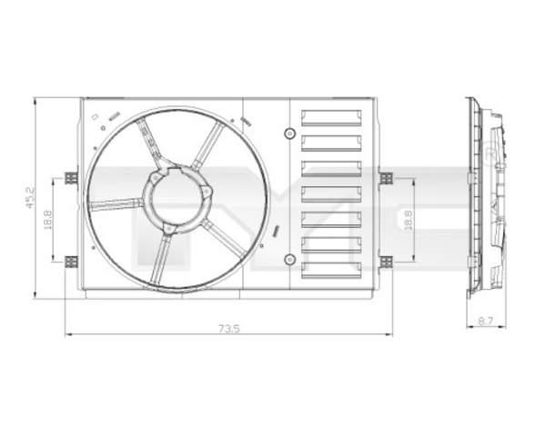 Tyc Ventilatorhouder 837-0035-1