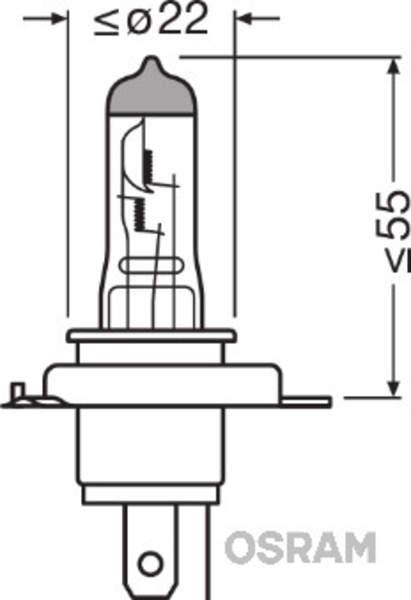 Osram Gloeilamp grootlicht / Gloeilamp koplamp / Gloeilamp mistlicht 64193CBI