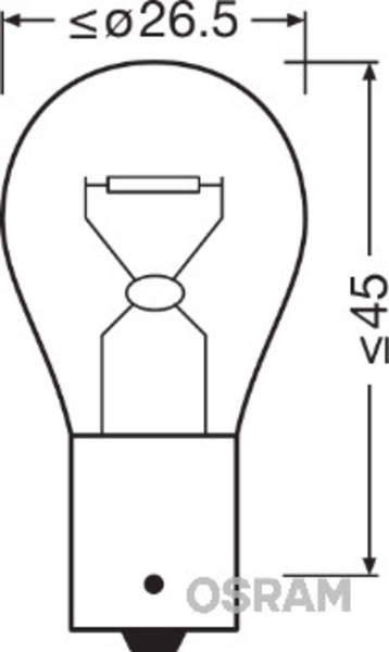 Osram Gloeilamp knipperlicht 7507-02B