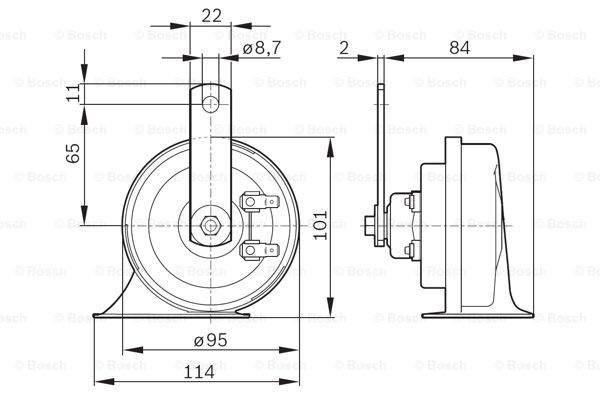 Bosch Claxon 0 986 AH0 503