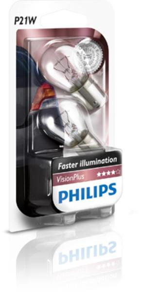 Philips Gloeilamp achterlicht / Gloeilamp achteruitrijlicht / Gloeilamp daglicht / Gloeilamp derde remlicht / Gloeilamp interieurverlichting / Gloeilamp kentekenverlichting / Gloeilamp knipperlicht / Gloeilamp mist-/ achterlicht / Gloeilamp mistachterlicht 12498VPB2