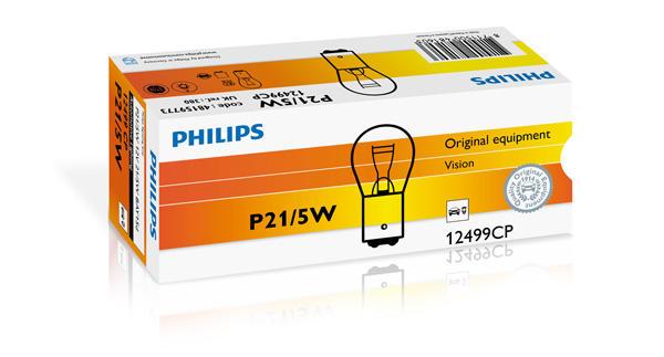 Philips Gloeilamp achterlicht / Gloeilamp achteruitrijlicht / Gloeilamp daglicht / Gloeilamp knipperlicht / Gloeilamp mist-/ achterlicht / Gloeilamp mistachterlicht / Gloeilamp parkeer-/ begrenzingslicht / Gloeilamp remlicht / Gloeilamp remlicht-/ achterlicht 12499CP