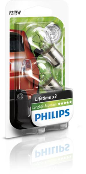 Philips Gloeilamp achterlicht / Gloeilamp achteruitrijlicht / Gloeilamp daglicht / Gloeilamp knipperlicht / Gloeilamp mist-/ achterlicht / Gloeilamp mistachterlicht / Gloeilamp parkeer-/ begrenzingslicht / Gloeilamp remlicht / Gloeilamp remlicht-/ achterlicht 12499LLECOB2