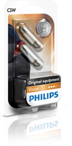 Philips Gloeilamp achterlicht / Gloeilamp instaplicht / Gloeilamp interieurverlichting / Gloeilamp kentekenverlichting / Gloeilamp kofferruimteverlichting / Gloeilamp leeslamp / Gloeilamp opbergvakverlichting / Gloeilamp parkeer-/ breedtelicht 12844B2